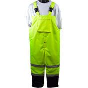 Petra Roc Waterproof Quilted Thermal Bib Pants, ANSI/ISEA Class E, Lime/Black, 5X, LQBBIP-CE-5XL