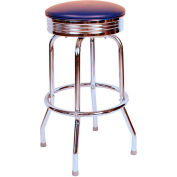 "Richardson Seating Retro Swivel Barstool - 24""H - Blue"