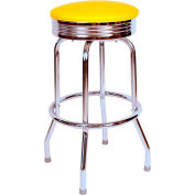 "Richardson Seating Retro Swivel Barstool - 30""H - Yellow"