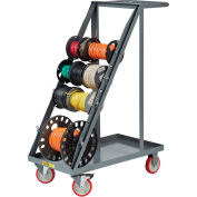 Little Giant® RT4-5TL Wire Reel Cart, Open Back, Non-Marking Polyurethane Wheels