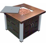 Hiland Fire Pit GS-F-PC-SS Propane 31000 BTU Square Antique Bronze/acier inoxydable