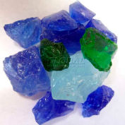 """Hiland Fire Glass RGLASS-PB 1/2"""" to 1"""" Dia. Recycled Pacific Blend 10 Lbs"""