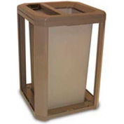 Landmark Series® 35 Gal. Locking Classic Container W/ Dome Top And Ashtray - Driftwood