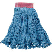 "Rubbermaid® Large Super Stitch Cotton/Synthetic Wet Mop W/ 5"" Headband - FGD25306BL00 - Pkg Qty 6"
