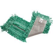 "Rubbermaid® 5""x24"" Castaway Cotton/Synthetic Dust Mop, Green - FGL15300GR00 - Pkg Qty 12"
