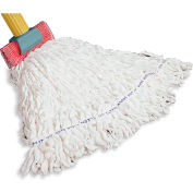 Rubbermaid® Medium Clean Room Rayon/Polyester Wet Mop - White - FGT30000WH00 - Pkg Qty 12