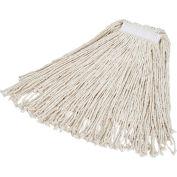 "Rubbermaid® #24 Value Pro Cotton Economy Wet Mop W/ 1"" Headband- FGV11800WH00 - Pkg Qty 12"