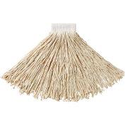 "Rubbermaid® #24 Value Pro Cotton Economy Wet Mop W/ 5"" Headband - FGV15800WH00 - Pkg Qty 12"