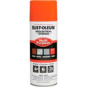 Rust-Oleum Industrial 1600 System General Purpose Enamel Aerosol, Safety Orange, 12 oz - 1653830, qté par paquet : 6