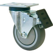 "RWM Casters VersaTrac® 5"" TPR Swivel Wheel Caster with Face Contact Brake - 27-RPB-0512-S-ICWB"