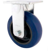 "RWM Casters 4"" Urethane Rigid Caster on Iron Wheel with Optional Mounting Plate - 46-UIR-0420-R-43RT"