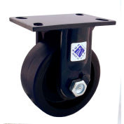 "RWM Casters 75 Series 12"" Cast Iron Wheel Rigid Caster - 75-CIR-1230-R"