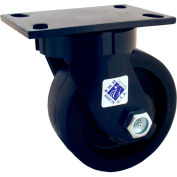 "RWM Casters 75 Series 6"" x 3"" Forged Steel Wheel Swivel Caster - 75-FSR-0630-S"