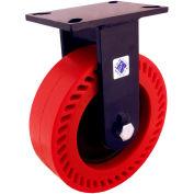 """RWM Casters 76 Series 8"""" x 3"""" Urethane on Iron Wheel Rigid Caster - 76-UIR-0830-R"""