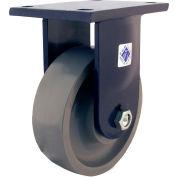 "RWM Casters 96 Series 10"" x 4"" Forged Steel Wheel Rigid Caster - 95-FST-1040-R"