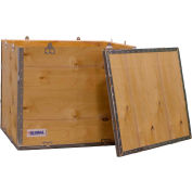 """Global Industrial™ 4-Panel Hinged Shipping Crate with Lid, 24"""" x 20"""" x 20"""" O.D."""