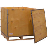 """Global Industrial™ 4 Panel Hinged Shipping Crate w/ Lid & Pallet, 35""""L x 35""""W x 31""""H"""
