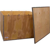 """Global Industrial™ 6 Panel Shipping Crate w/ Lid, 47-1/4""""L x 39-1/4""""W x 29-1/2""""H"""