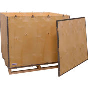 """Global Industrial™ 6 Panel Shipping Crate w/ Lid & Pallet, 47-1/4""""L x 39-1/4""""W x 36-1/2""""H"""