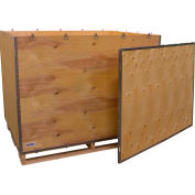 """Global Industrial™ 6 Panel Shipping Crate w/ Lid & Pallet, 57-1/4""""L x 41-1/4""""W x 40-1/2""""H"""