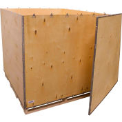 """Global Industrial™ 6 Panel Shipping Crate w/ Lid & Pallet, 59-1/4""""L x 59-1/4""""W x 54-1/2""""H"""