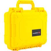 "Condition 1 184 Airtight Watertight Case H184YWF8628AC1 - Yellow with Foam 10-5/8""x9-5/8""x4-3/4"""