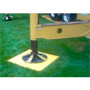 "Checkers® RIGPAD 5-ply Outrigger/Crane Pad with Hand Cutouts, 32"" x 32"", 3232HDS-CM"
