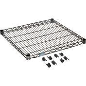 """Nexel® S2424B Black Epoxy Wire Shelf 24""""W x 24""""D"""