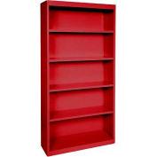 """Acier des étagères de bibliothèque 4 34-1/2"""" W x 13 «D x 72» H-rouge"""