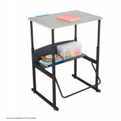AlphaBetter™ Desk, 28 x 20 Standard Top - Beige & Black