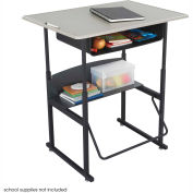 AlphaBetter™ bureau, 36 x 24 Haut Standard avec boîte de livre - Beige & noir