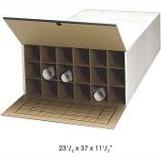 """37"""" D Roll fichier stockage Tube - Tube 18, qté par paquet : 2"""