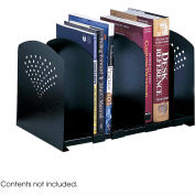 Five Section Adjustable Book Rack - Black