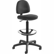 Safco® Precision Drafting Stool - Fabric  - Extended Height - Black