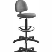 Safco® Precision Drafting Stool - Fabric  - Extended Height - Dark Gray