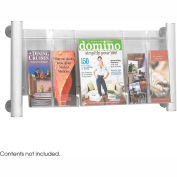 Luxe™ Magazine Rack - 3 Pocket - Silver