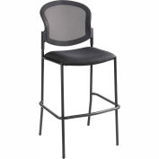 Safco® Diaz Mesh Bistro Chair - Fabric - Black