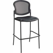 Safco® Diaz Mesh Bistro Chair - Vinyl - Black
