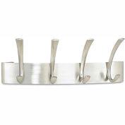 Safco® Wall Coat Rack, 4-Hooks, Steel