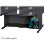 Optional High Base for 10 Drawer Steel Flat Files - Black