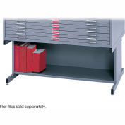 Optional High Base for 10 Drawers Steel Flat Files - Gray