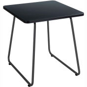 """Safco® End Table - 20"""" - Black with Black Frame - Anywhere Series"""