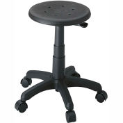 Safco® Office Stool - Polyurethane - Black