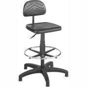 Safco® TaskMaster Economy Workbench Stool - Polyurethane - Black