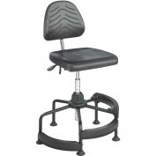 Safco® TaskMaster Deluxe Industrial Stool - Polyurethane - Black