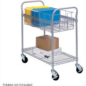 """Safco® 5235 Wire Mail Cart 24""""W"""