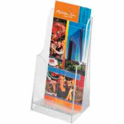 Acrylic Single Pocket Pamphlet Display (Qty 6) - Clear - Pkg Qty 6