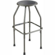 Safco® Fixed Height Stool - Steel - Silver