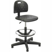 Safco® Soft Tough Economy Workbench Stool - Polyurethane - Black