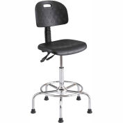 Safco® WorkFit Deluxe Industrial Stool - Polyurethane - Black
